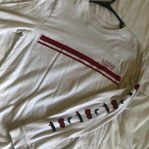 White cherry vans shirt